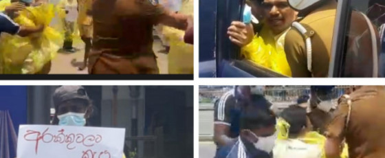 Two arrested during protest against reopening liquor stores