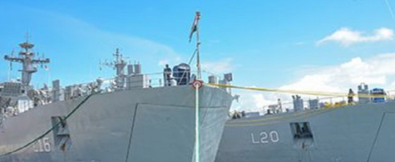 Indian Navy ships arrive for bilateral exercise